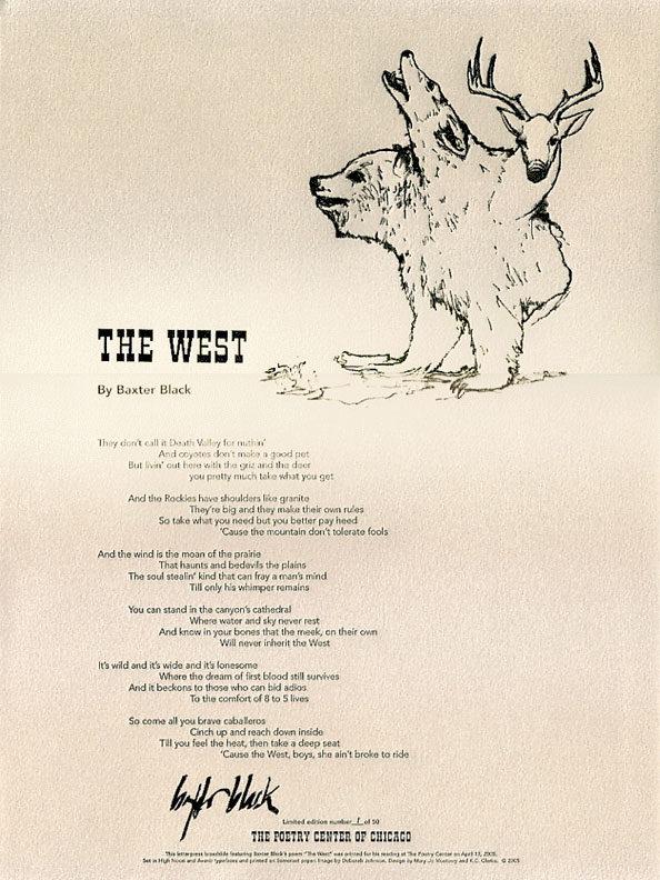 "Baxter Black, ""The West"""